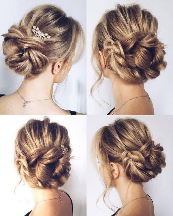 Tóc dài búi gọn lên với nhiều kiểu dáng khác nhau