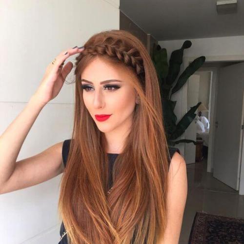 Tóc dài ép tóc bện rết tạo hình xước