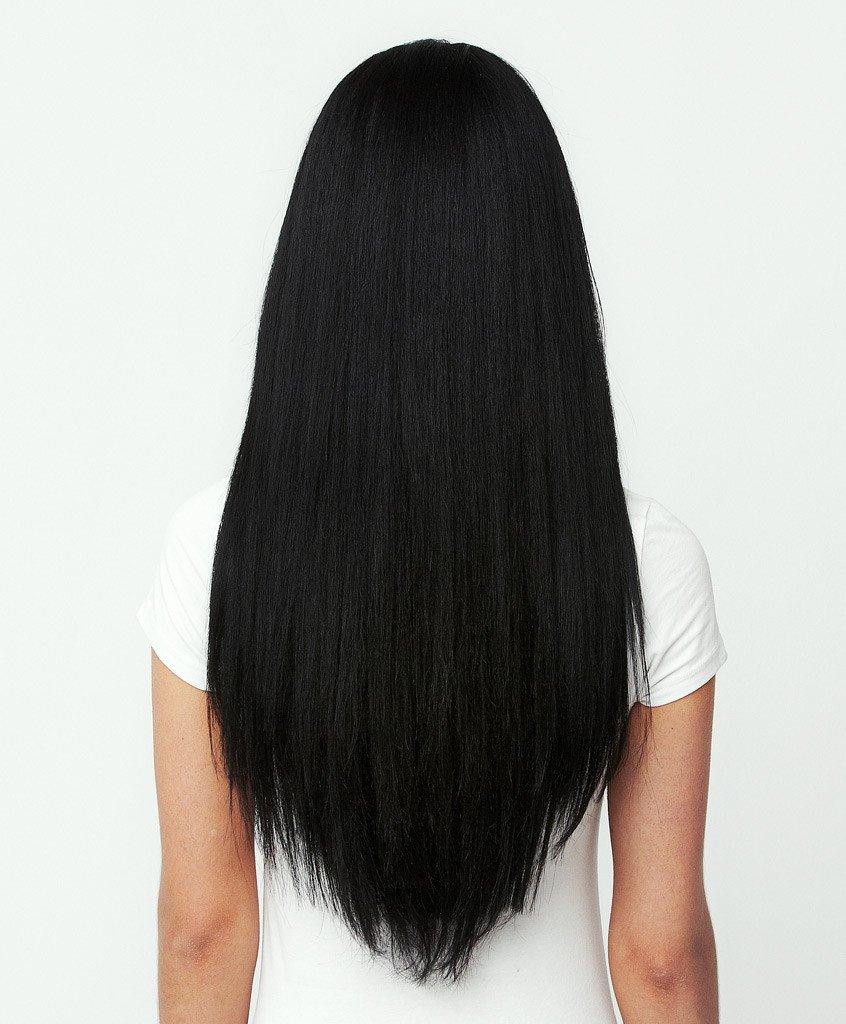 Tóc dài thẳng cắt chân đuổi