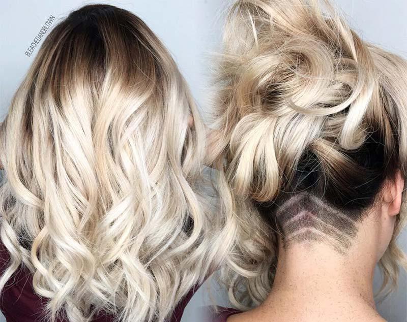 Tóc dài undercut cạo gáy