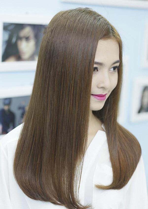 Tóc dài uốn cụp dành cho nữ