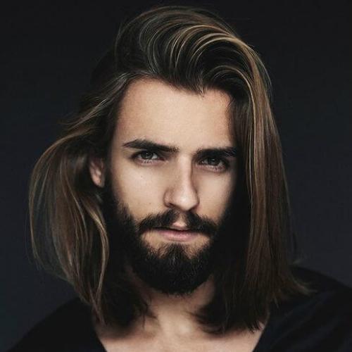 Tóc nam để dài suôn mượt