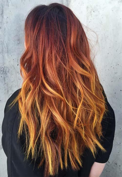 Màu tóc đẹp kiểu ánh hoàng hôn