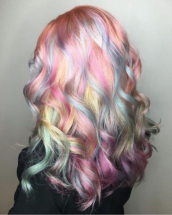 Màu tóc kỳ lân ảo diệu