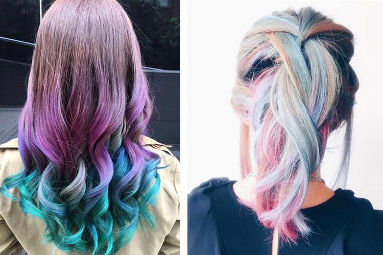 Màu tóc phun khói đuôi xanh rất đẹp