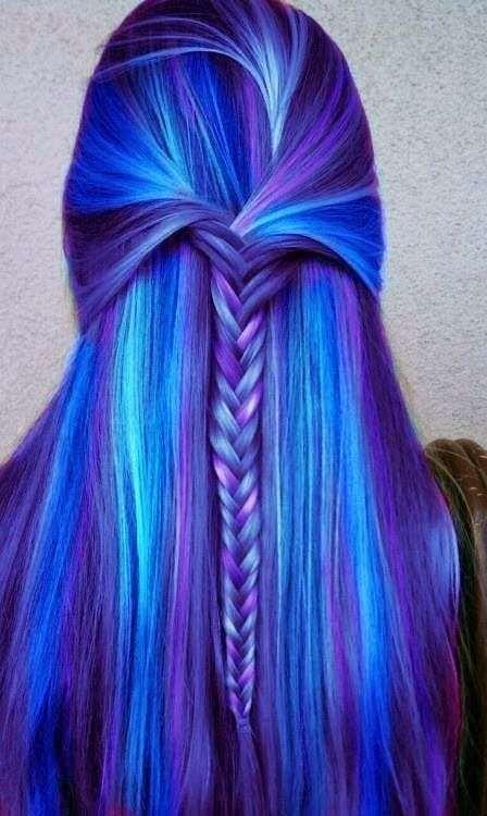 Tóc dài nhuộm gam màu lạnh rất cool