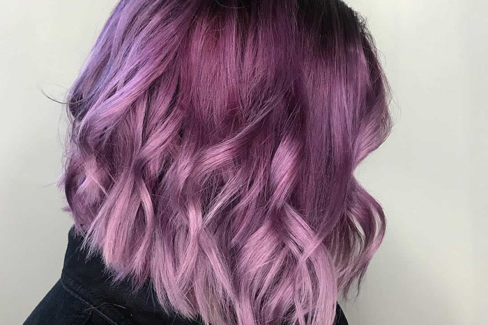 Tóc đẹp với màu hồng ngả tím