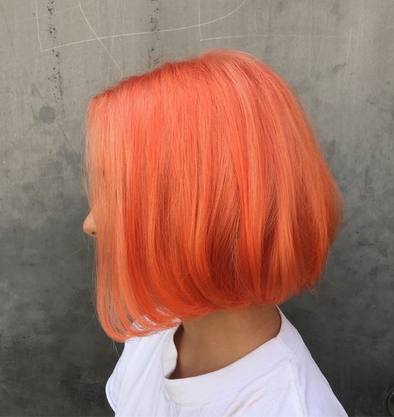 Tóc nhuộm màu cam sáng nhìn rất đẹp mắt