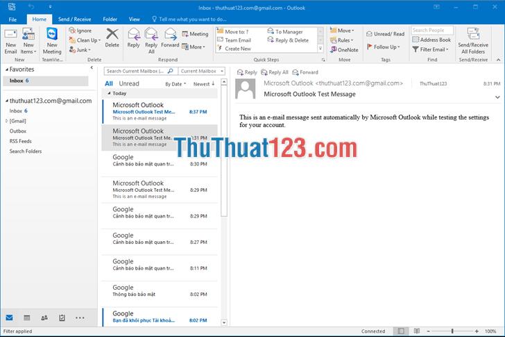 Giao diện của Gmail