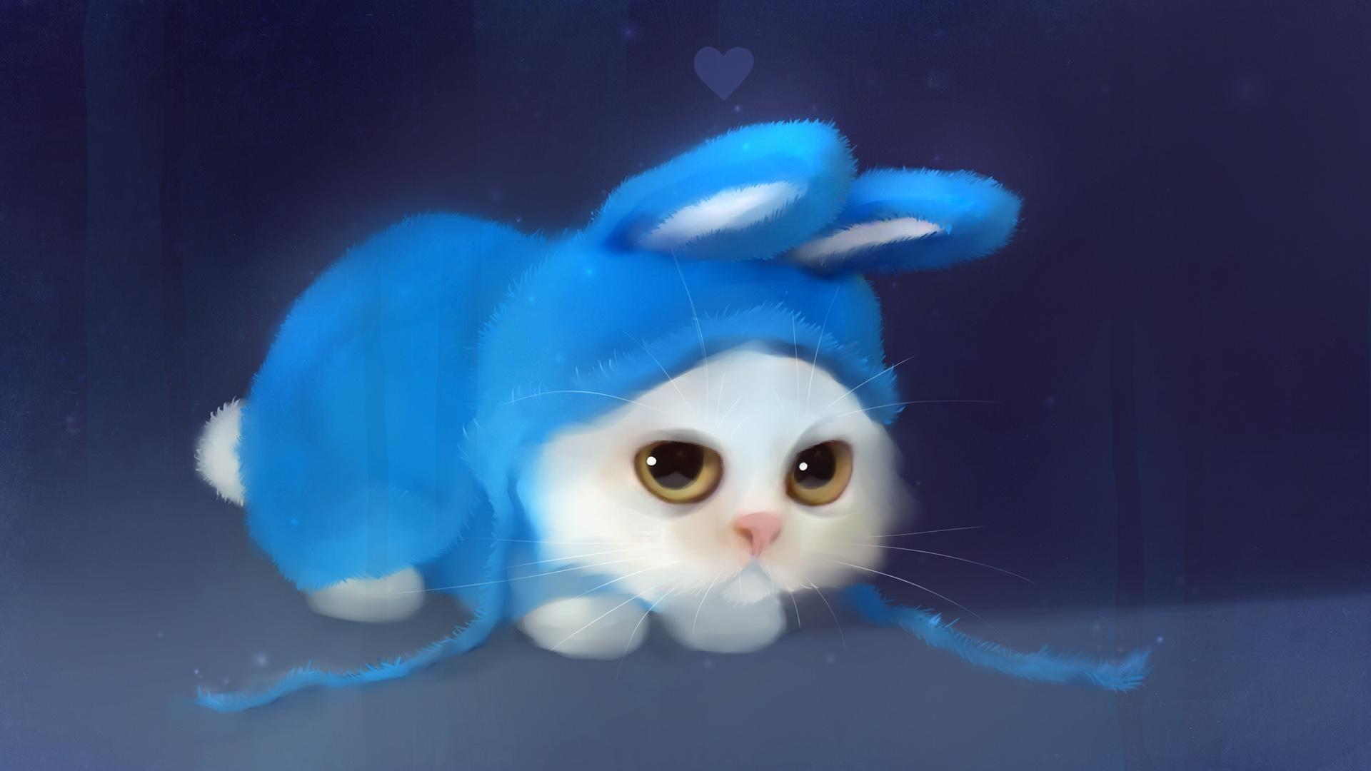 Hình nền mèo vẽ đáng yêu