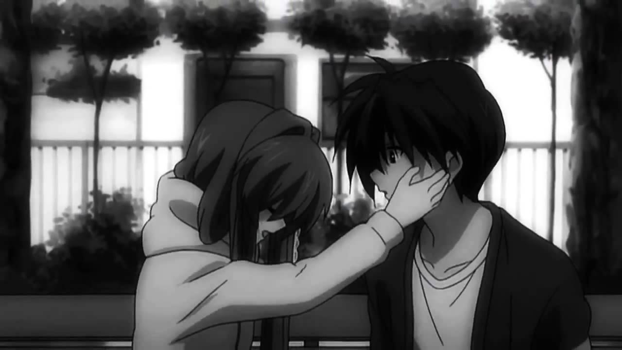 Hình ảnh Anime đen trắng buồn