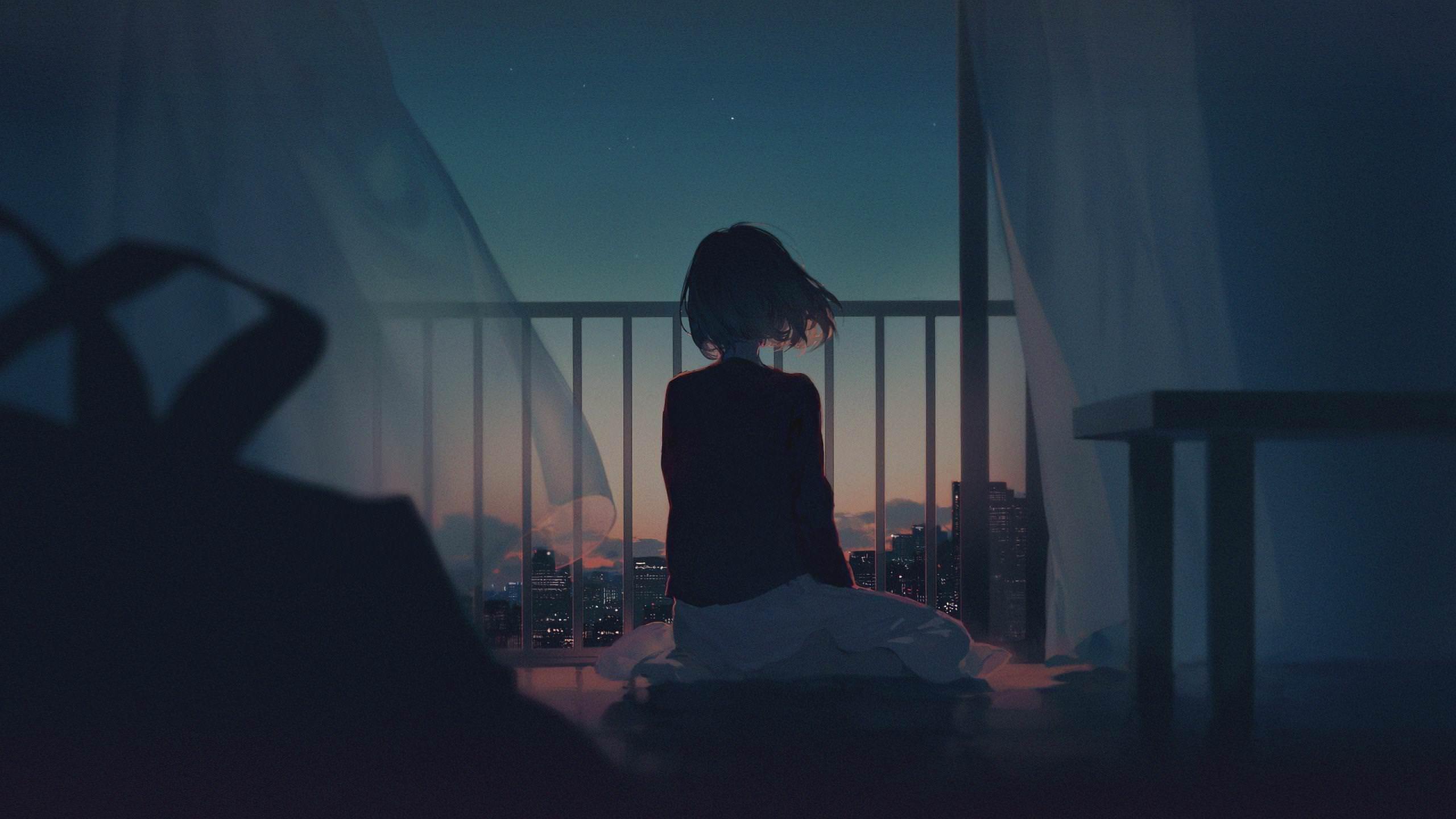 Hình ảnh Anime một mình cô đơn