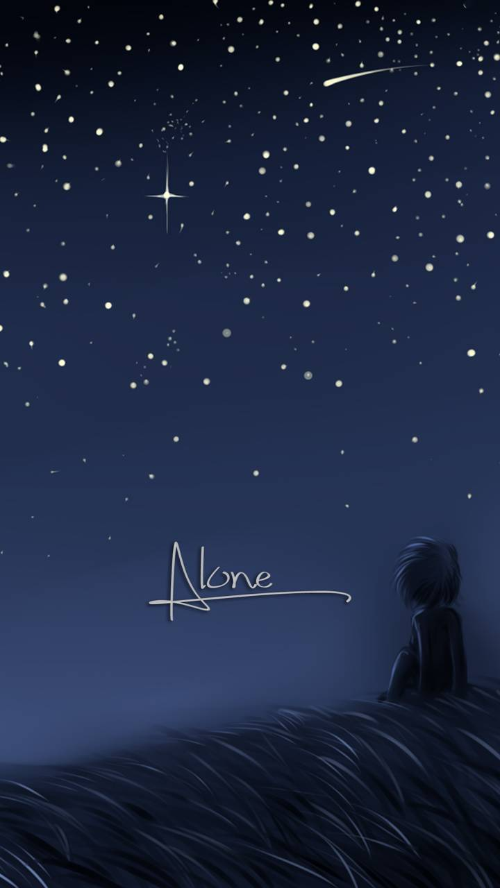Hình nền Anime cô đơn một mình