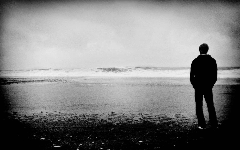 Avatar đen trắng cô đơn