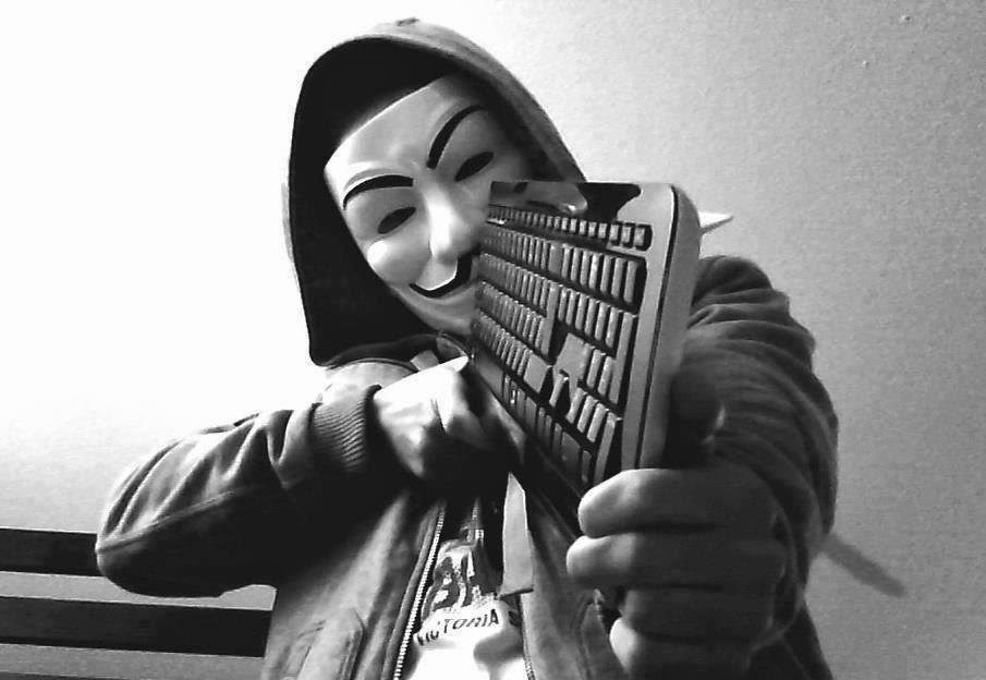 Avatar hacker đen trắng