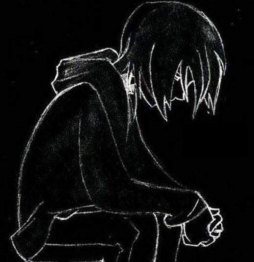 Hình avatar đen và buồn