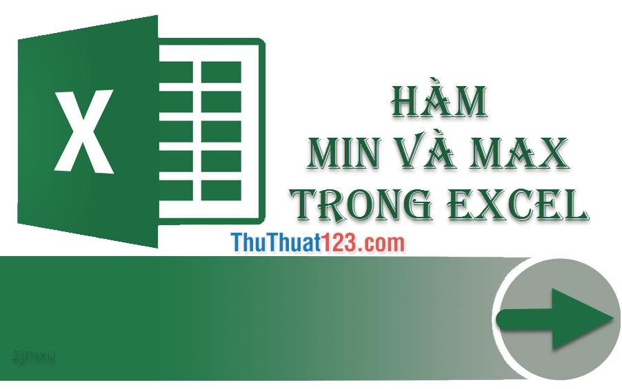 Cách dùng hàm MIN và MAX trong Excel để tìm giá trị nhỏ nhất, lớn nhất