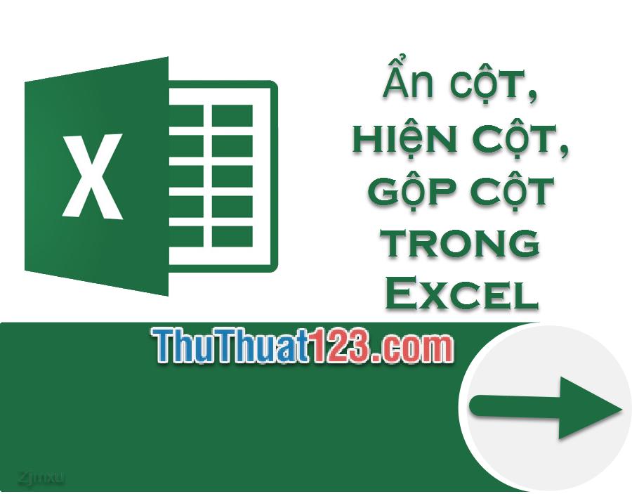 Cách ẩn cột, hiện cột, gộp cột trong Excel 2007, 2010, 2013, 2016, 2019