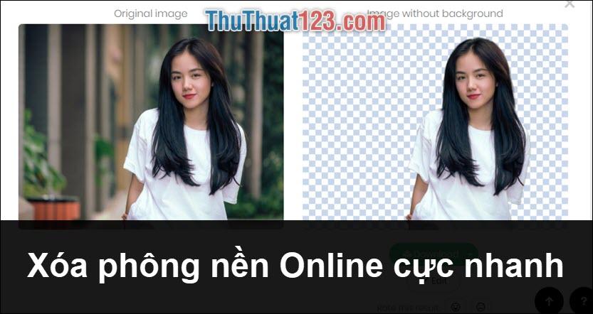 Hướng dẫn cách xóa phông nền ảnh Online cực nhanh