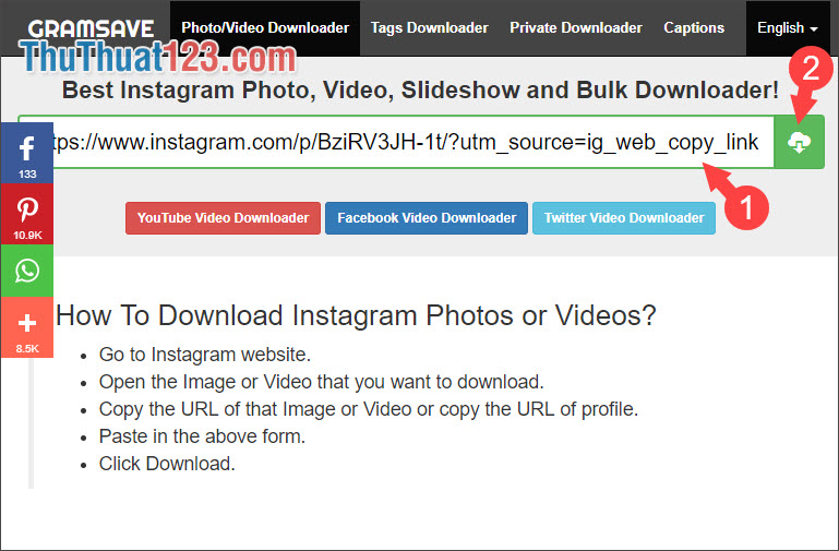Hướng dẫn cách tải ảnh trên Instagram về máy tính và điên thoại