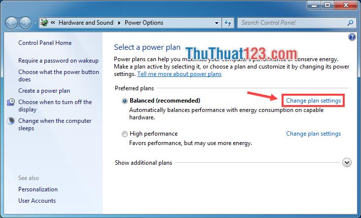 Cách tắt chế độ ngủ đông trong Windows 7