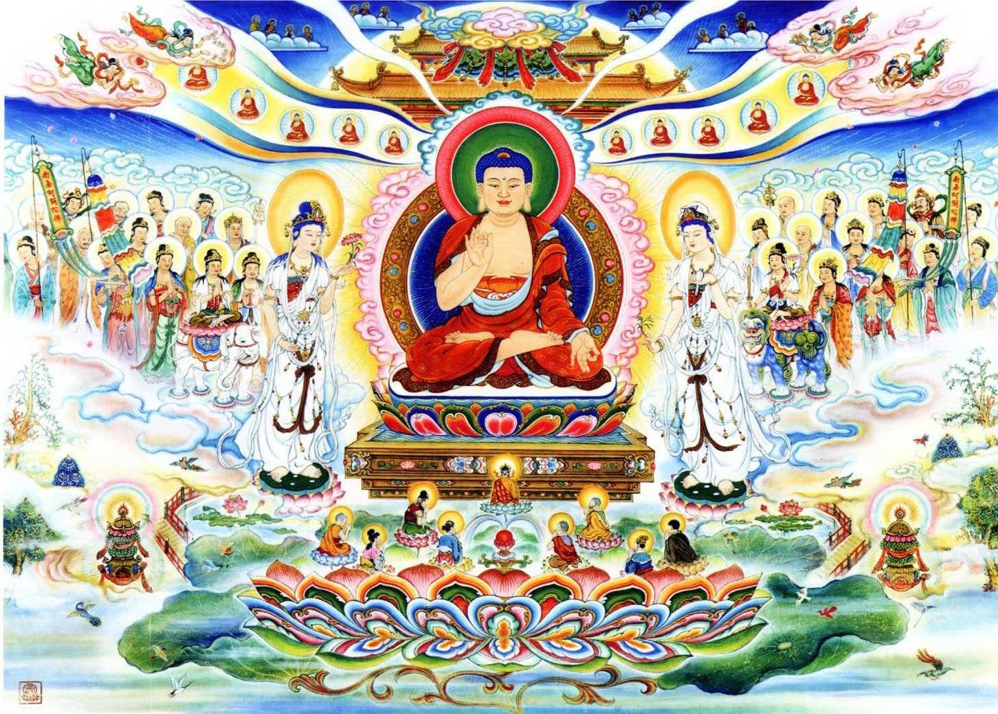 Ảnh chư Phật họp bàn cùng một nơi