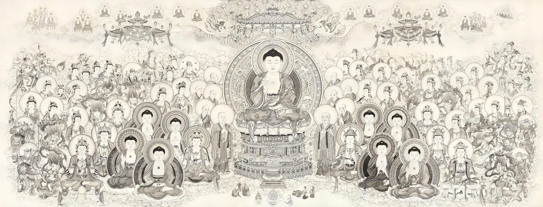 Ảnh vạn Đức Phật ở chung một chỗ