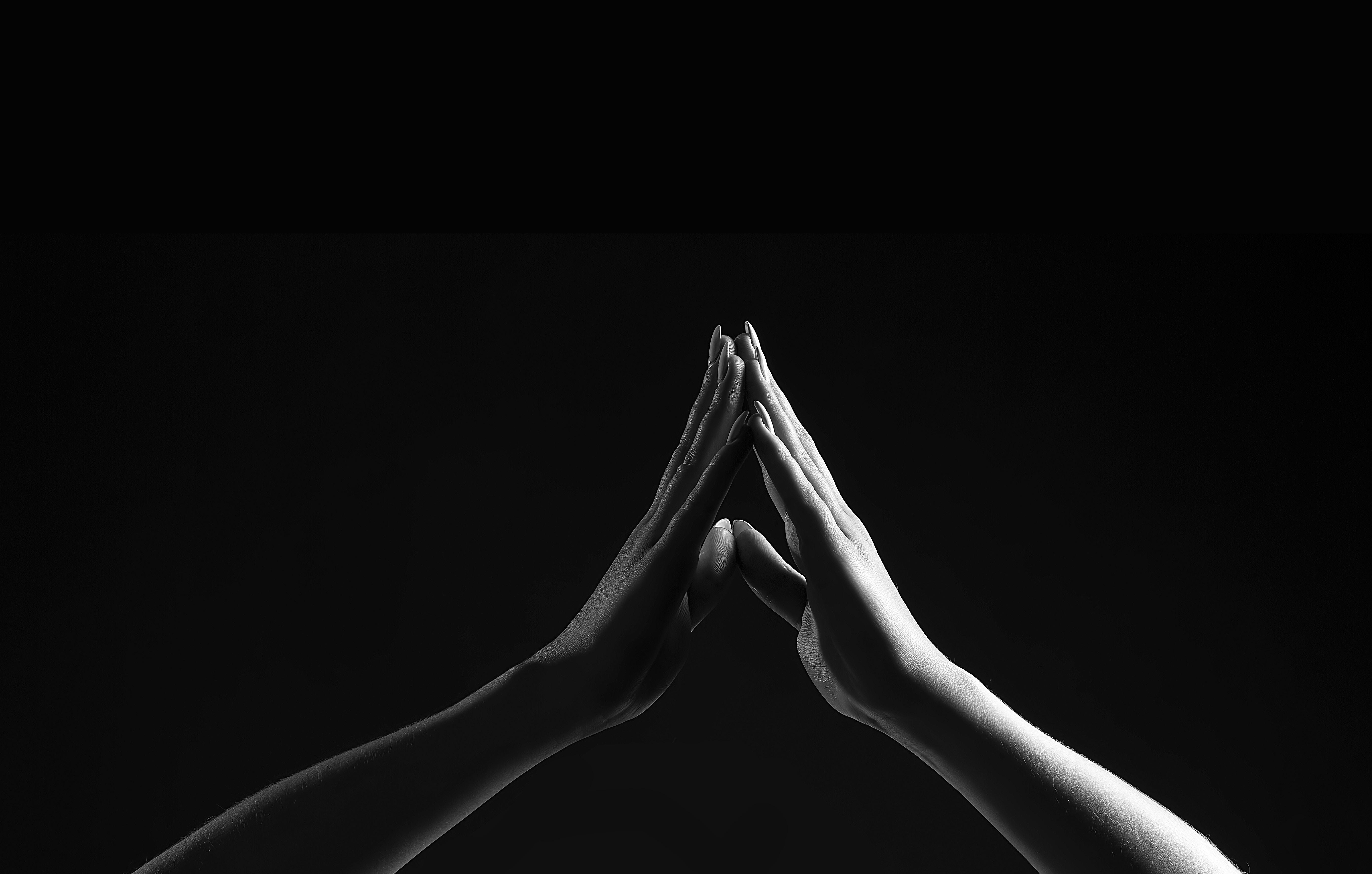 Bộ hình nền đen chạm tay