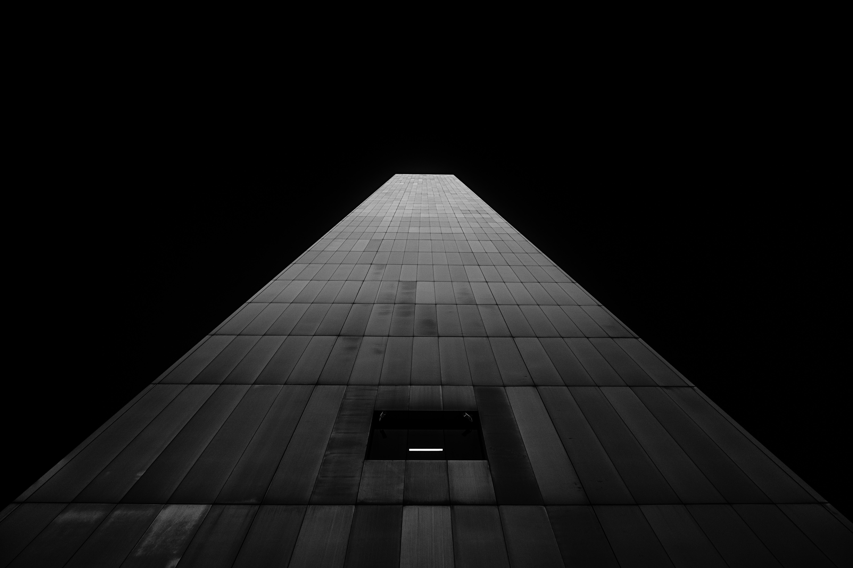 Bộ hình nền đen tòa nhà cao ốc