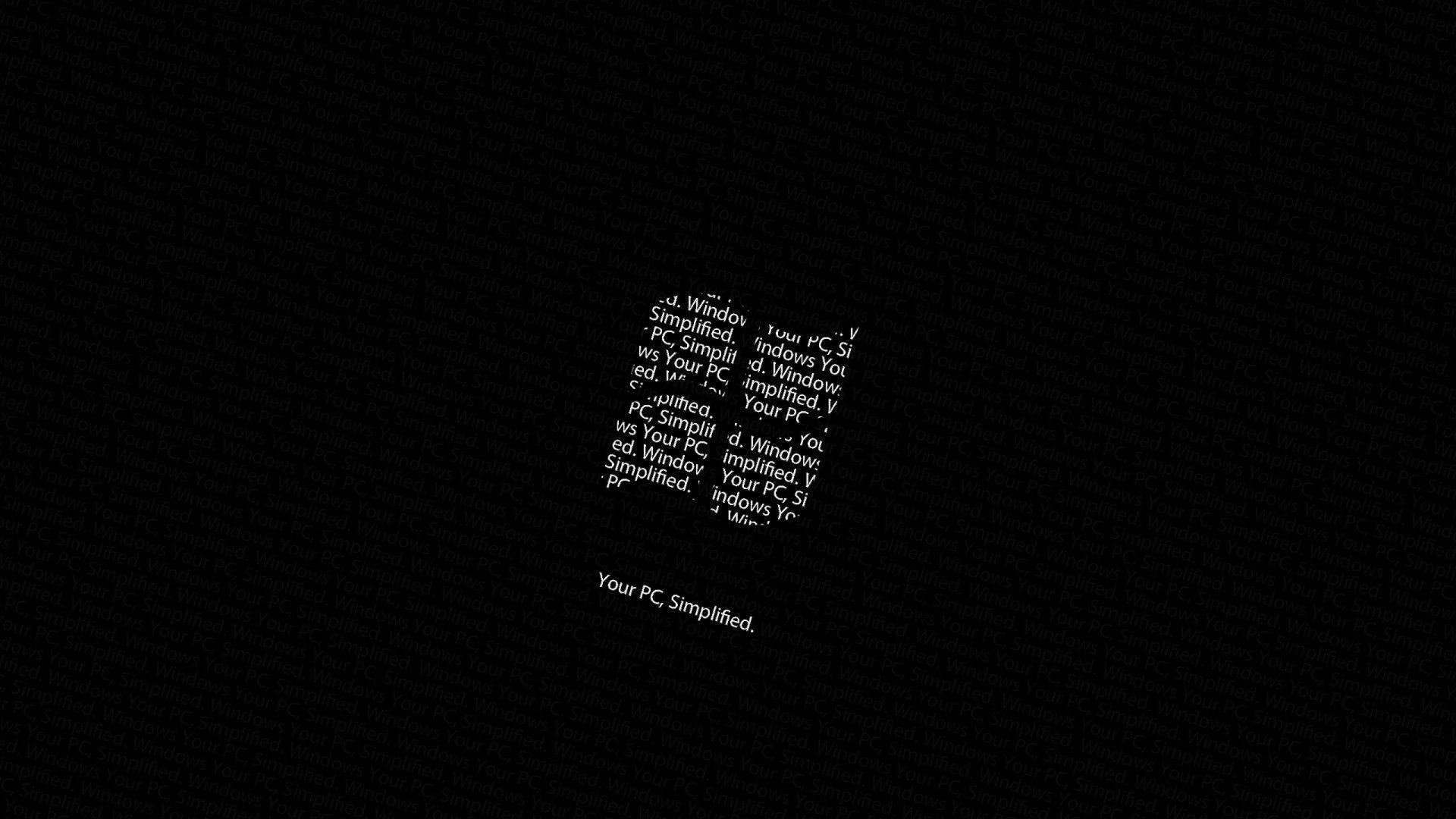 Bộ hình nền đen Windows