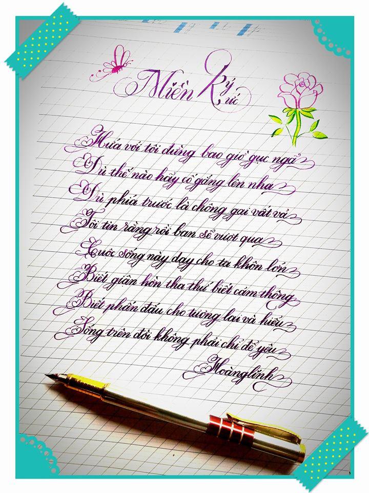 Các kiểu chữ viết hoa đẹp