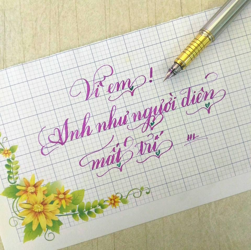 Chữ viết tay bút máy