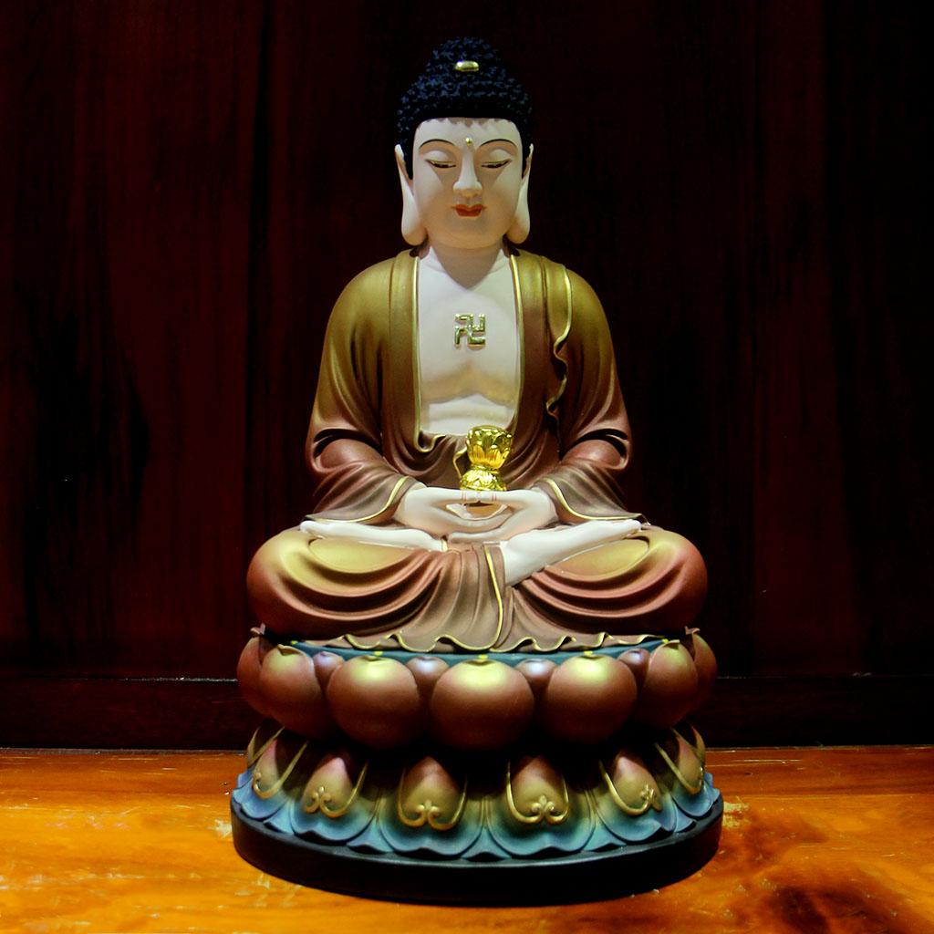 Hình ảnh Đức Phật A Di Đà ngồi trên đài sen