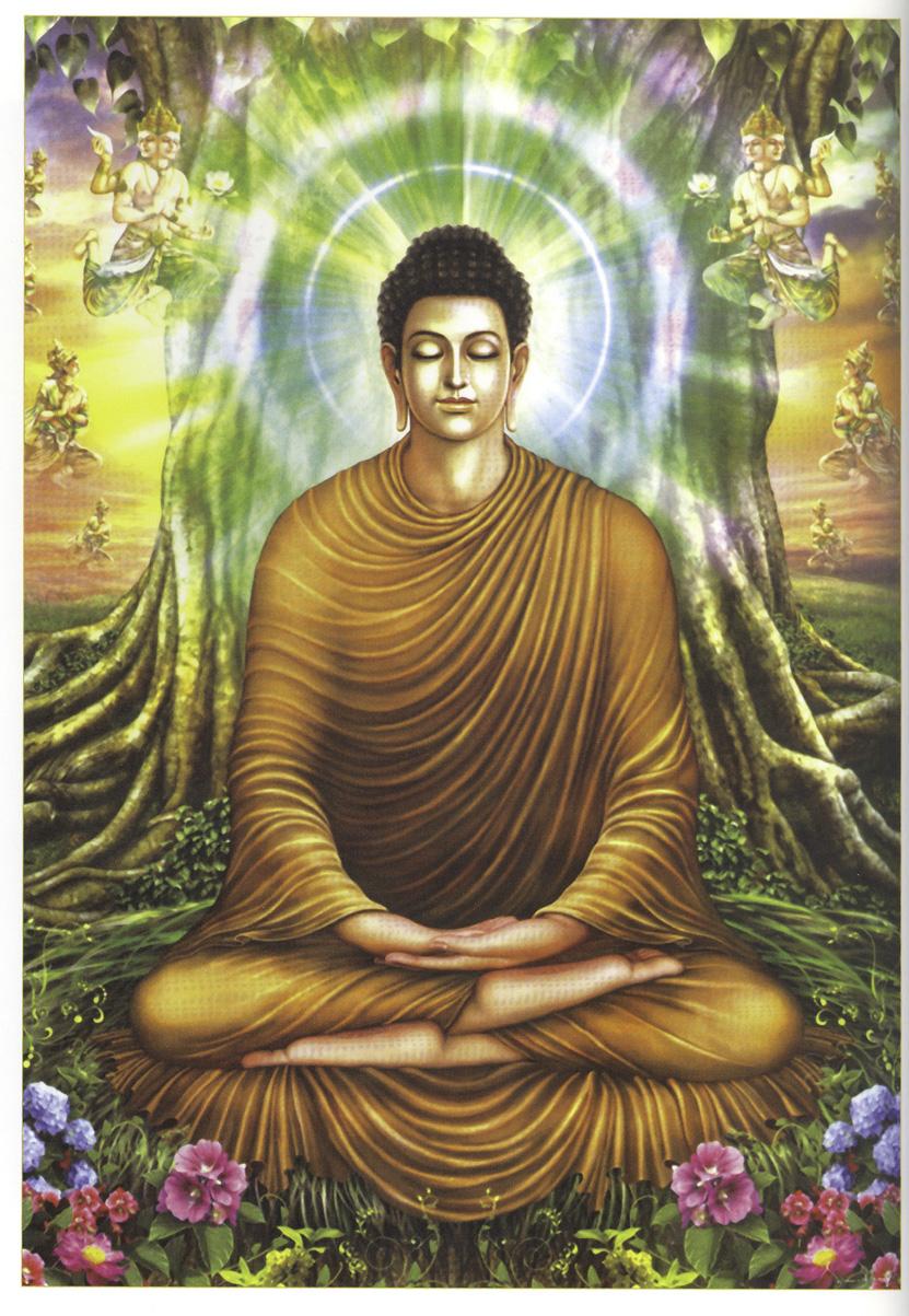 Hình ảnh Đức Phật Thích Ca Mâu Ni ngồi thiền dưới gốc cây