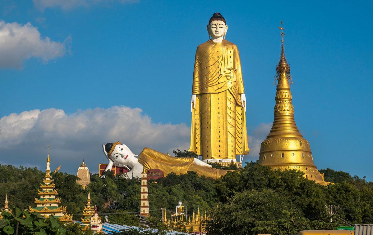 Hình ảnh tượng Phật ở Ushiku, Ibaraki, Japan