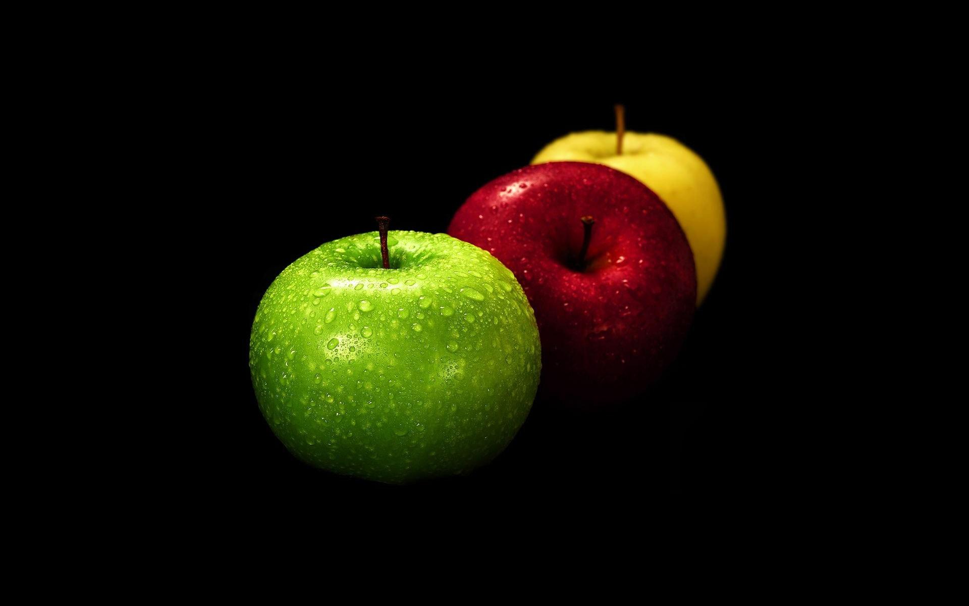 Hình nền trái táo đen đẹp
