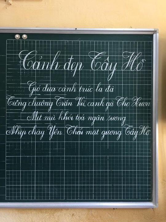 Mẫu chữ đẹp viết bảng