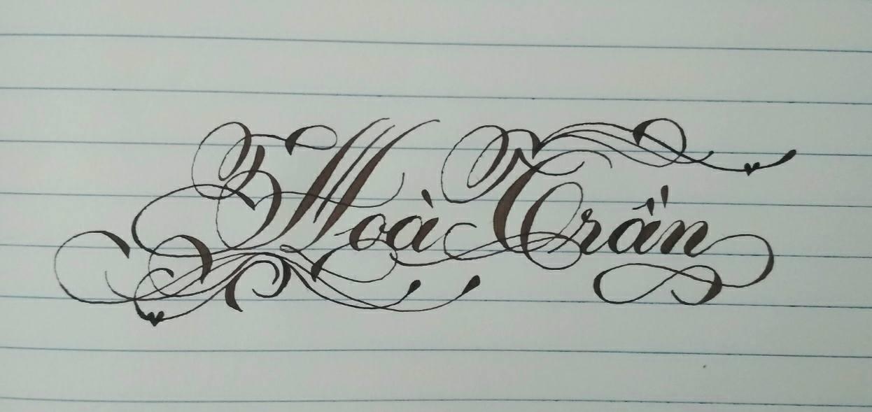 Mẫu chữ viết tay có nét móc đẹp