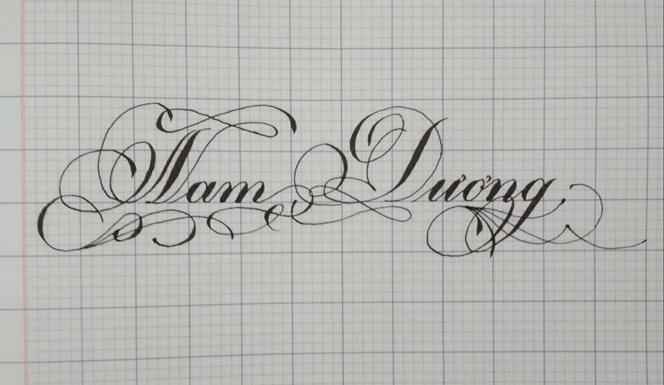 Mẫu chữ viết tay có nét móc