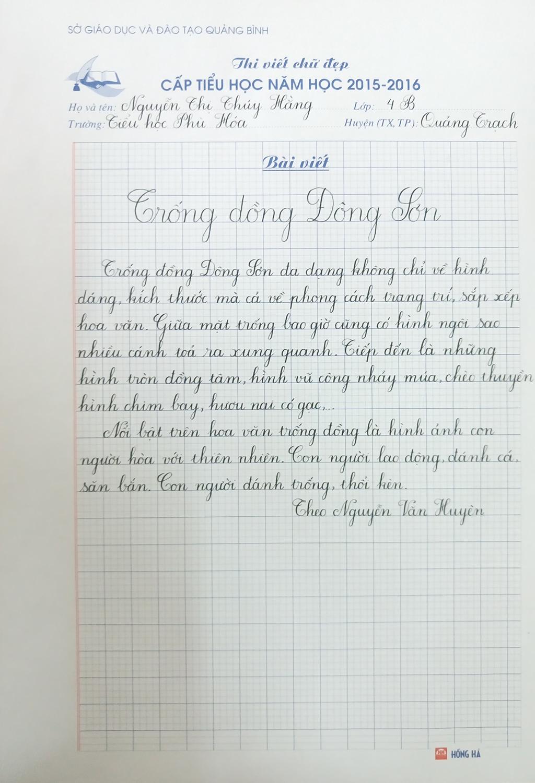 Mẫu chữ viết tay đi thi