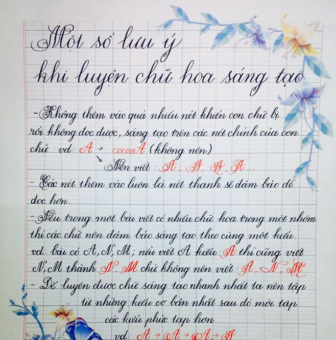 Tổng hợp mẫu chữ viết tay