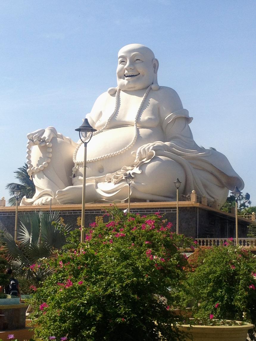 Tượng Đức Phật Di Lặc ở chùa Vĩnh Tràng