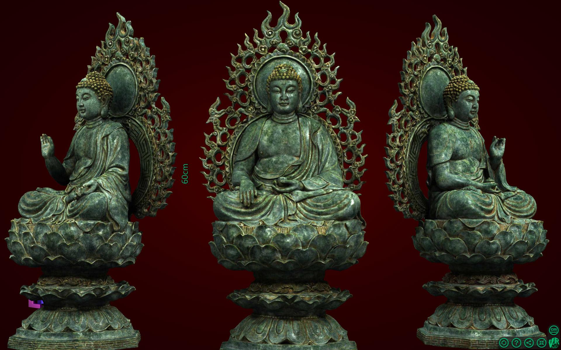 Tượng tam thế Phật rất đẹp