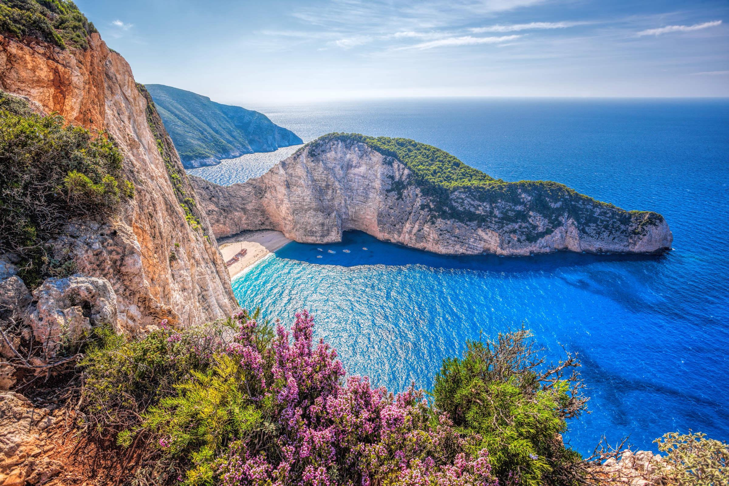 Ảnh cảnh đẹp thiên nhiên eo biển Navagio