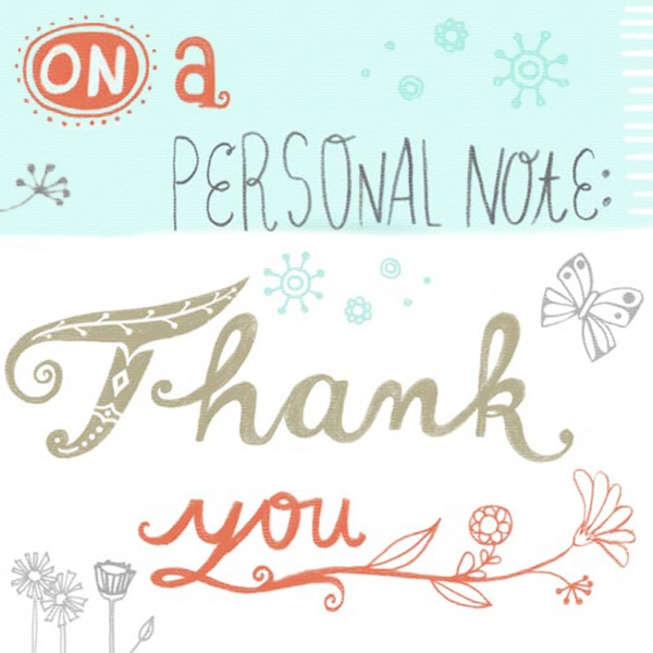Ảnh thank you personal note