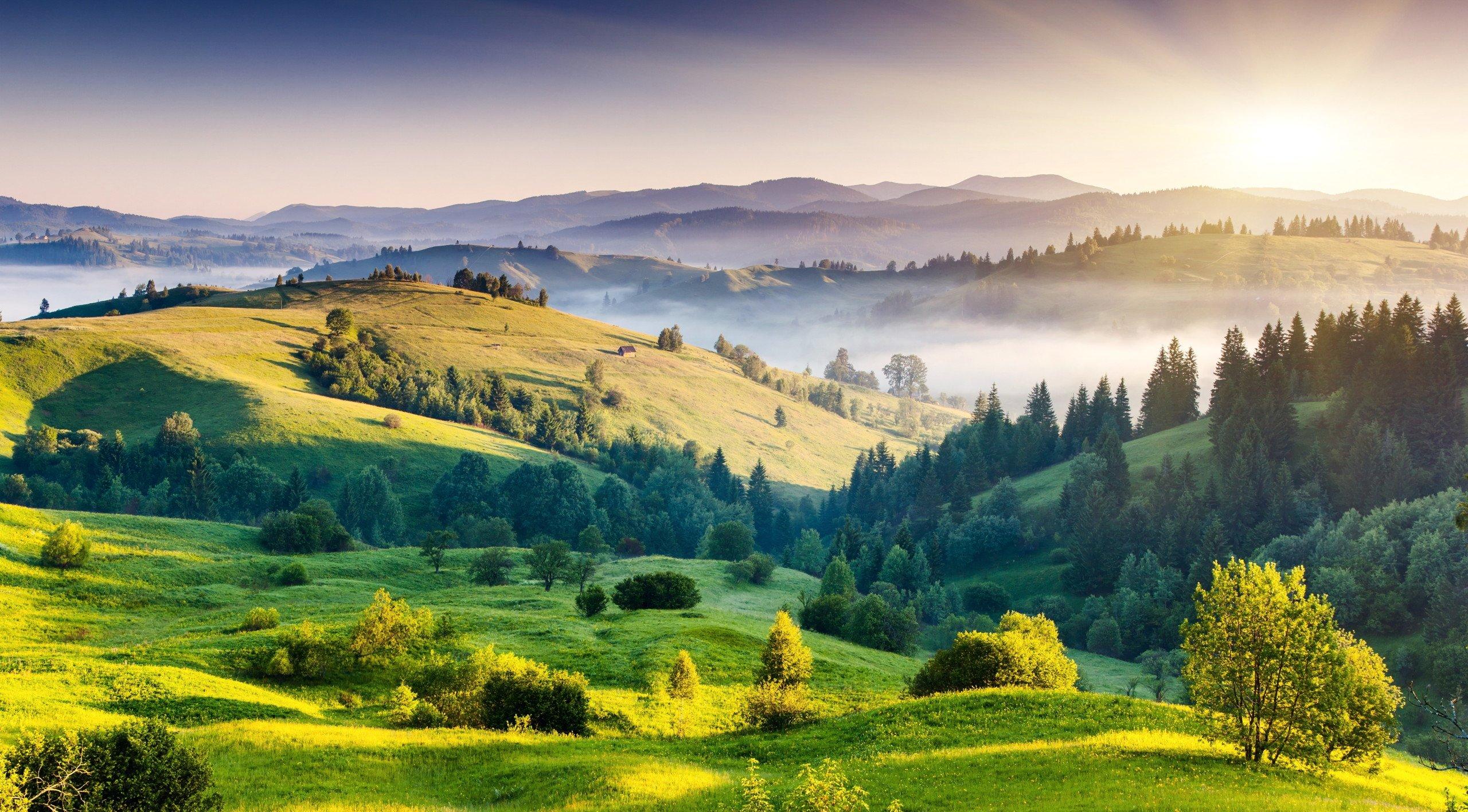 Cảnh thiên nhiên cao nguyên ngát xanh