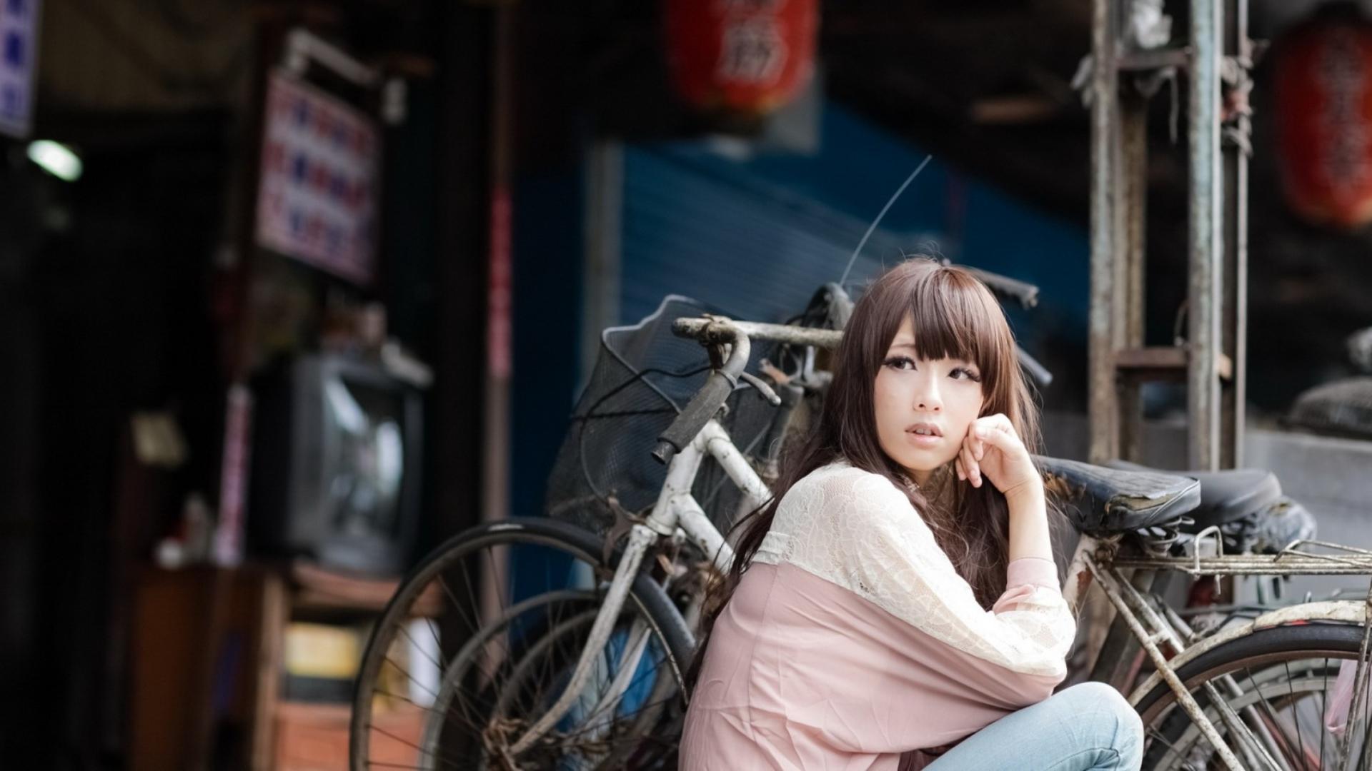 Hình nền cô gái châu Á đáng yêu