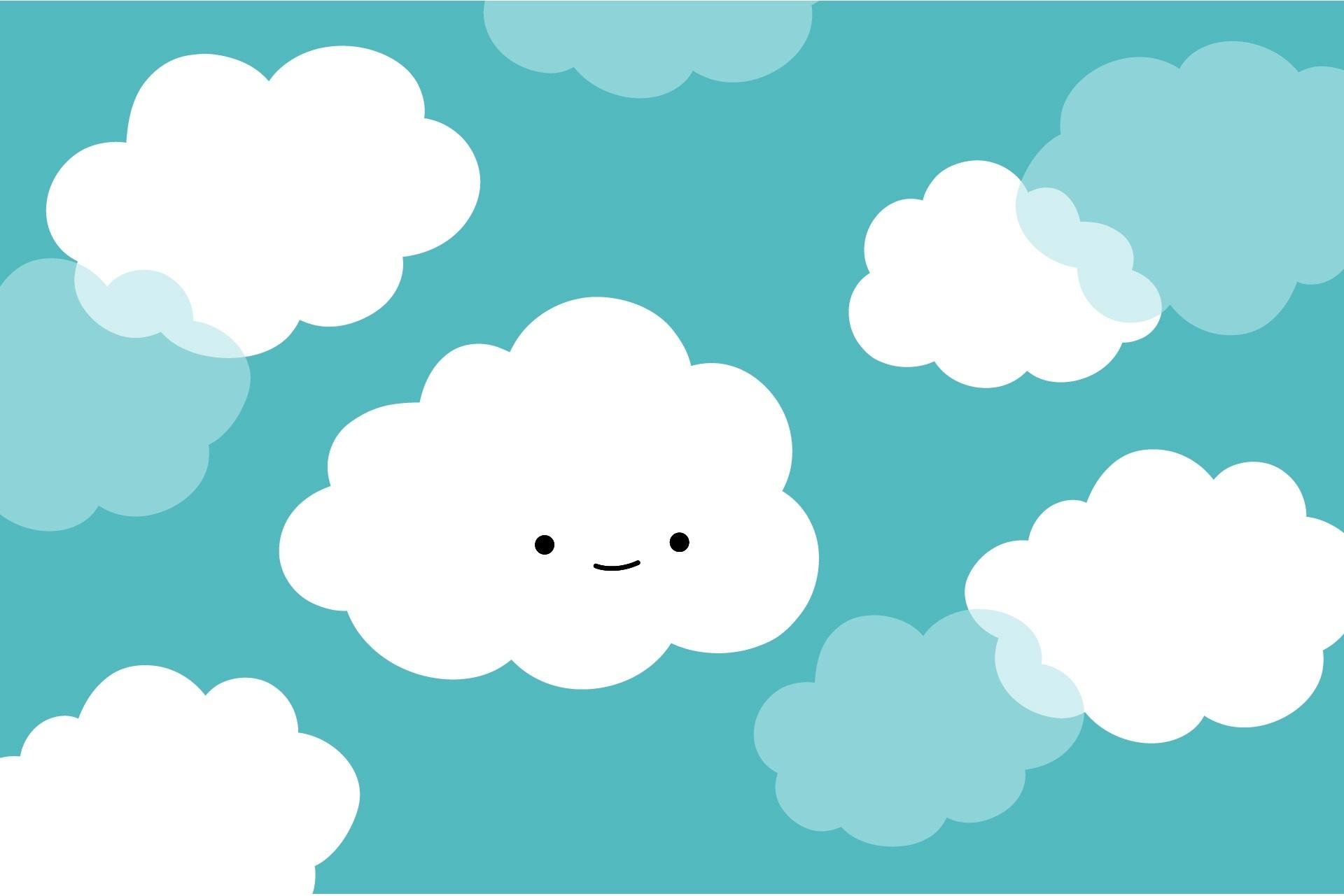Hình nền đám mây cute đáng yêu