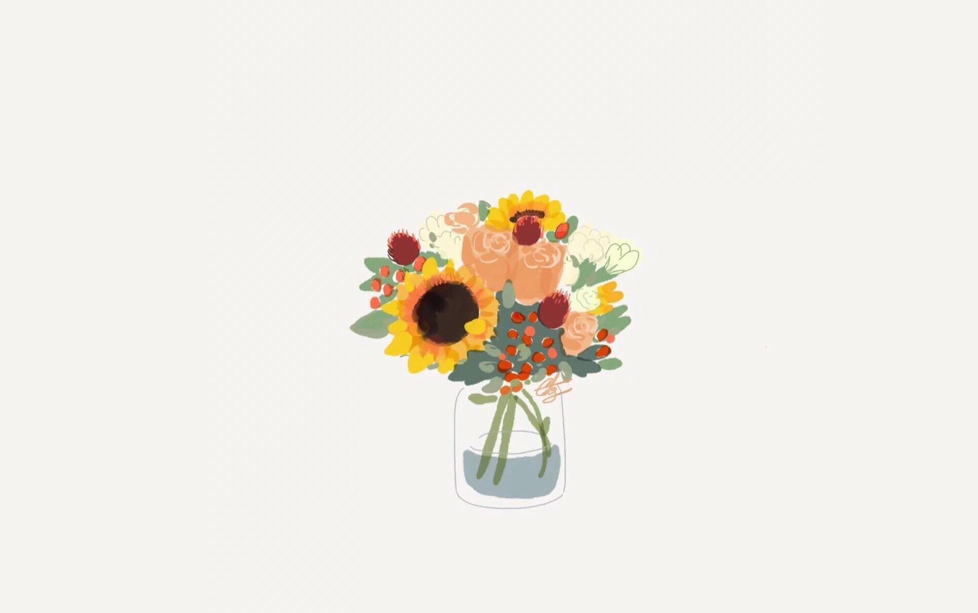 Hình nền HD lọ hoa giản dị dễ thương