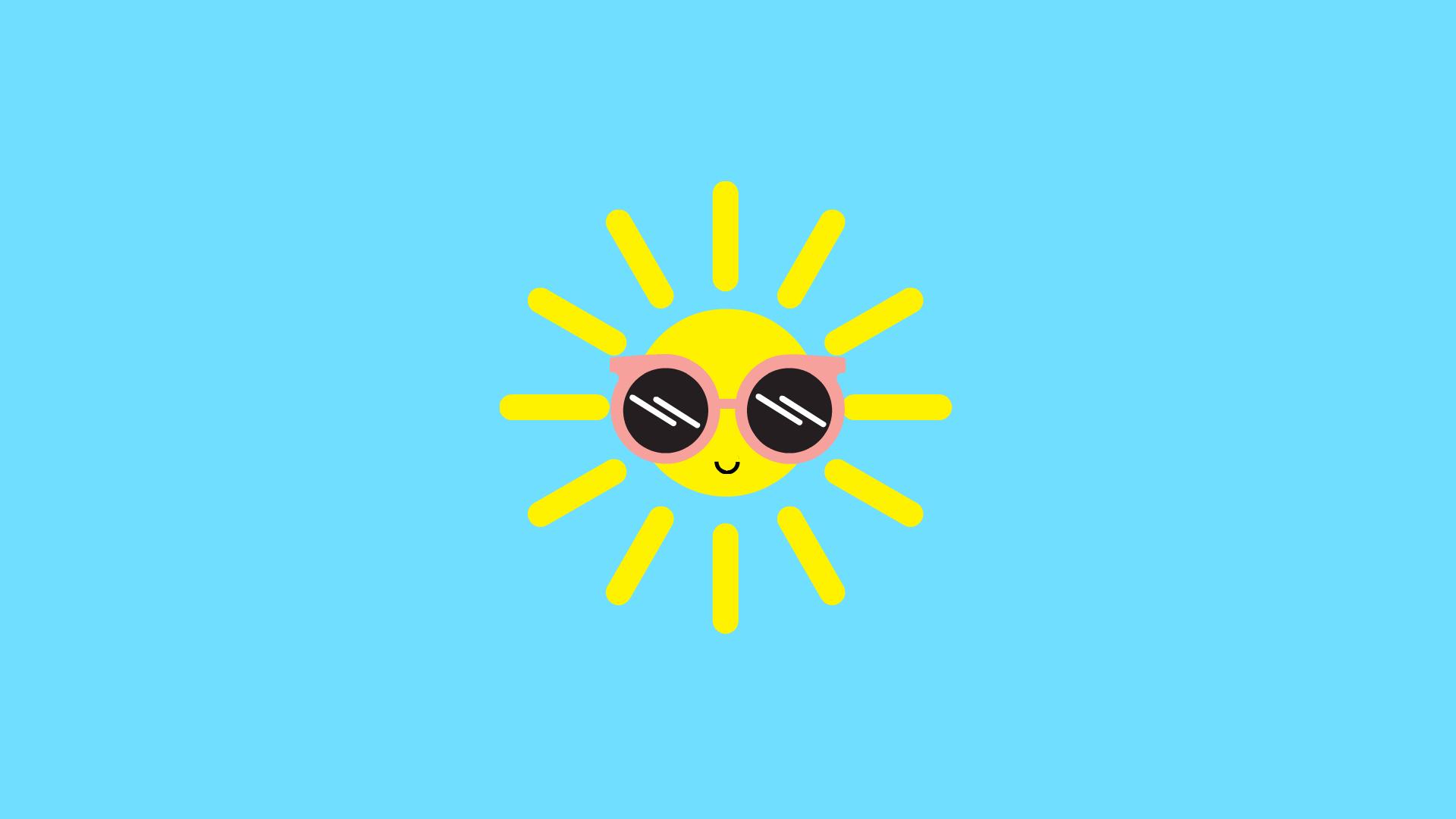 Hình nền HD mặt trời đáng yêu